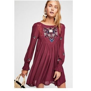 Free People | Moya Embroidered Short Dress XS